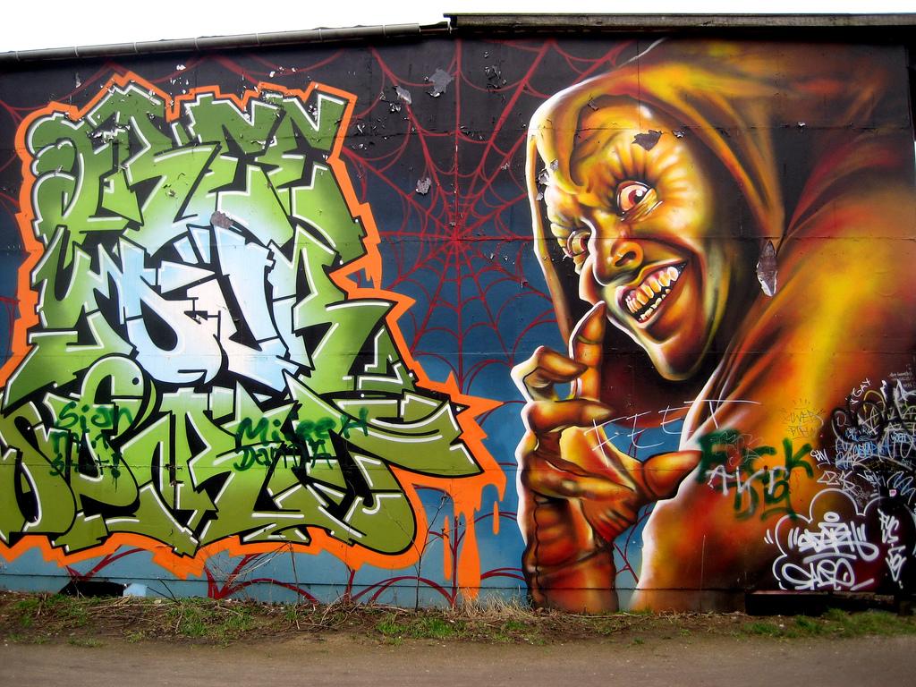Streetart in Christiania, Copenhagen