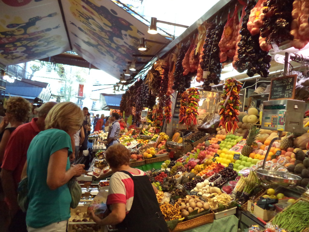 La Boqueria market in Barcelona is full of colours, tastes and people