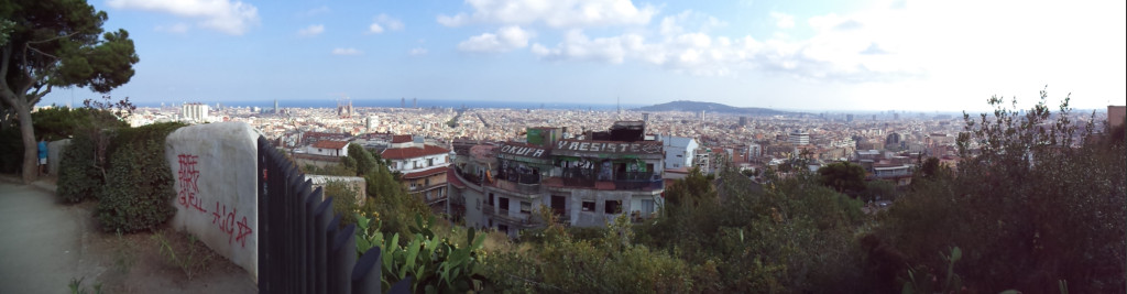 Astonishing views from Parc Guell, Barcelona