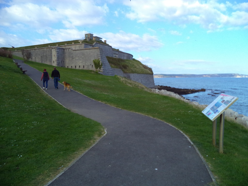 Nothe Fort and Nothe gardens, Weymouth