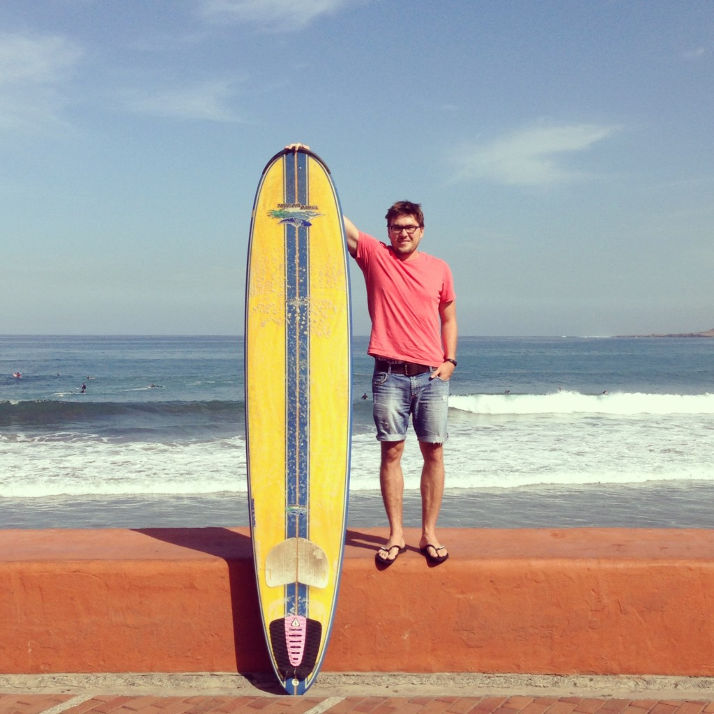 Peter from Surf Office and his longboard