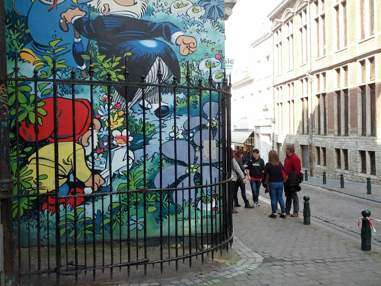 Murals The Smurfs, Brussels