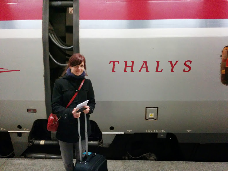 Thalys train, Gare Du Nord, Brussels