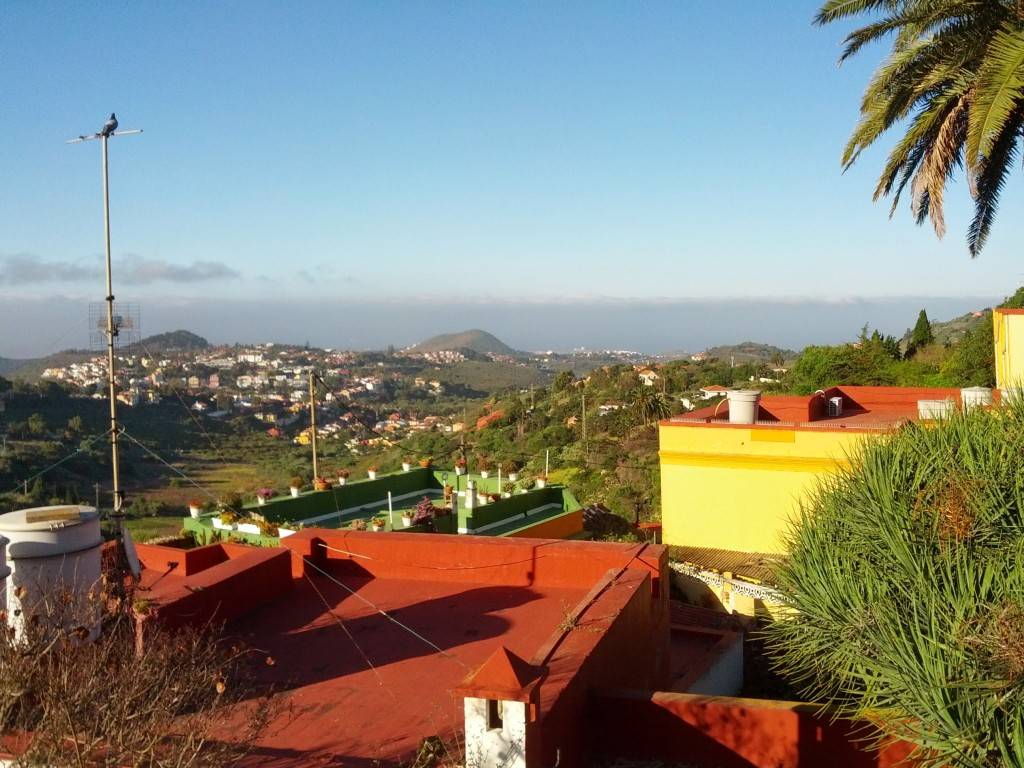 Awe-inspiring view from our terrace in Gran Canaria.