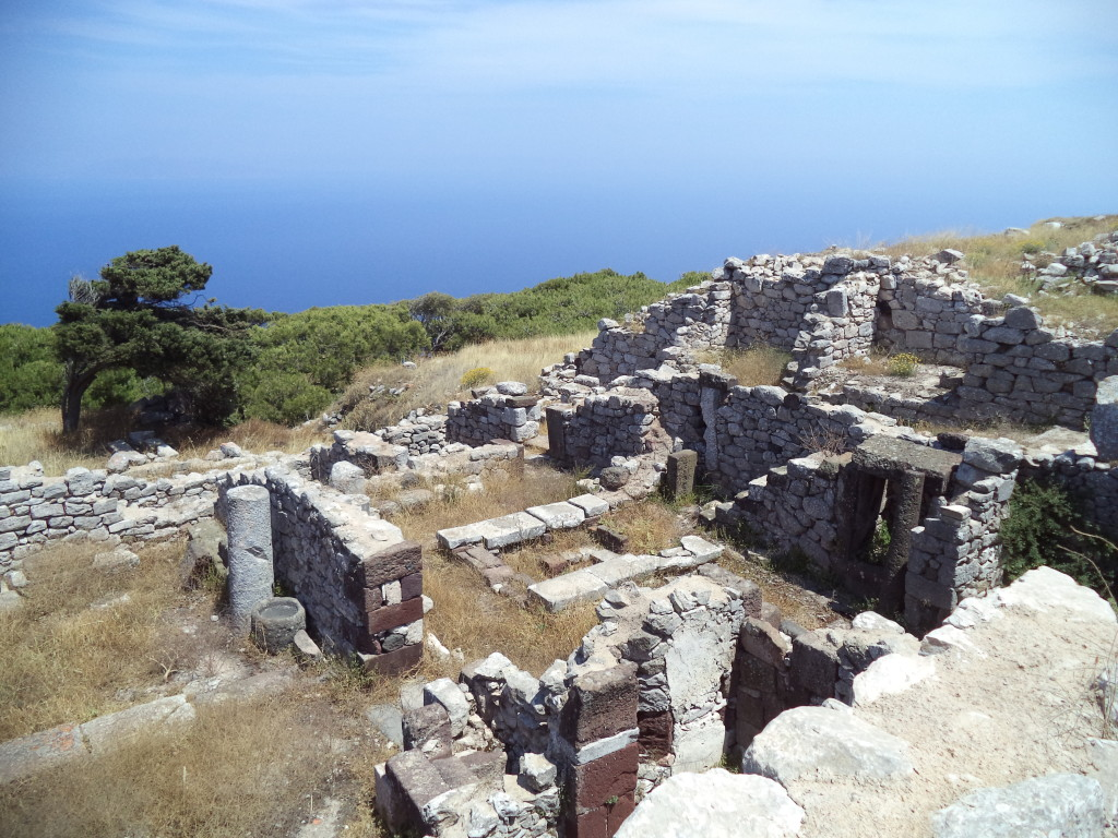 Ruins in Ancient Thera, Santorini