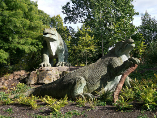 Iguanadons at Crystal Palace park, London