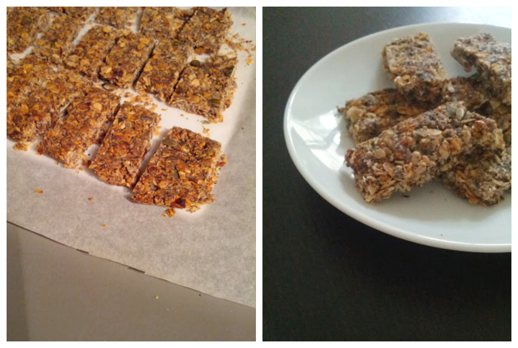 Home made granola bars - a great travel snack