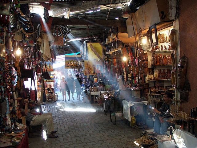 Traditional Moroccan souk