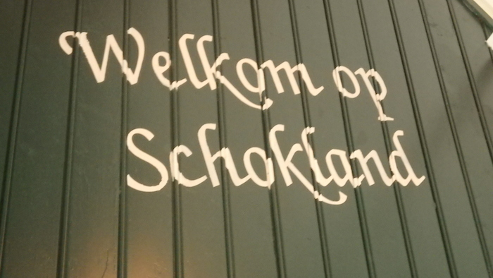Welcome to Schokland sign