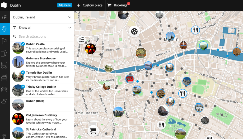 Tripomatic is a great tool for putting together your self-guided tour