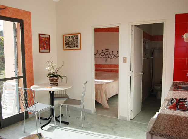 Upper apartment interior at La Francesca