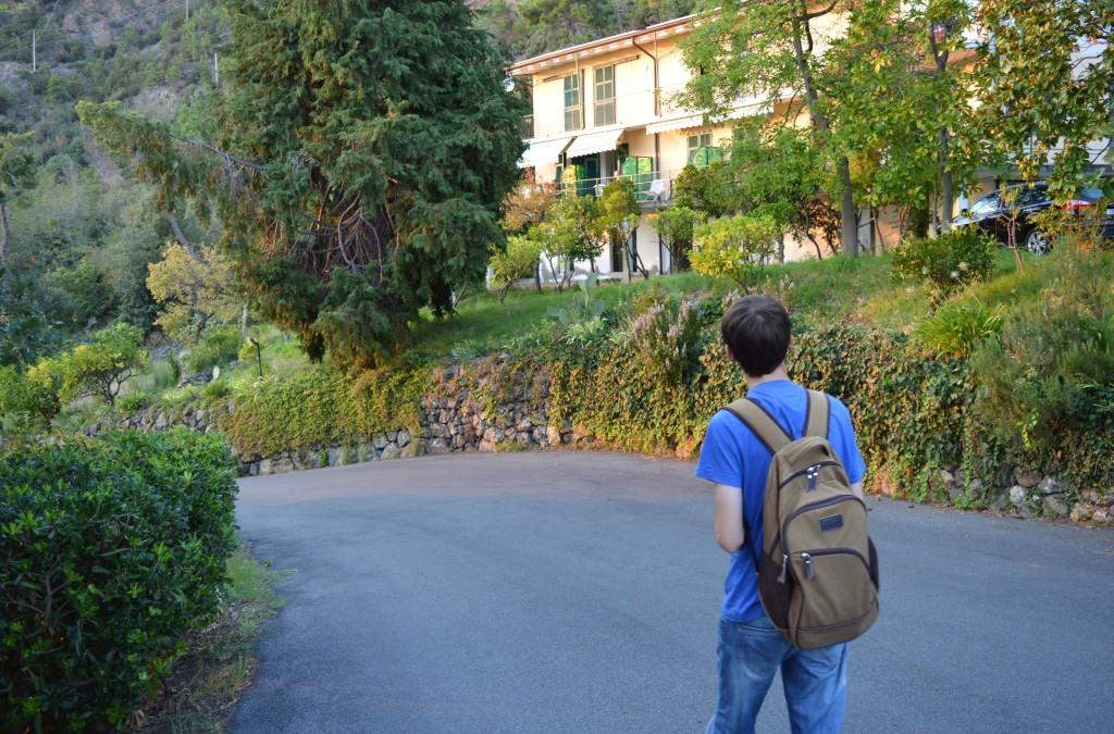 Strolling around La Francesca resort.