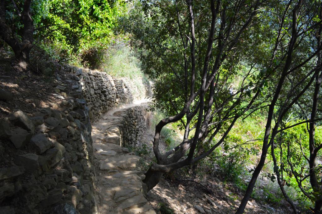 Cinque Terre hiking trail.