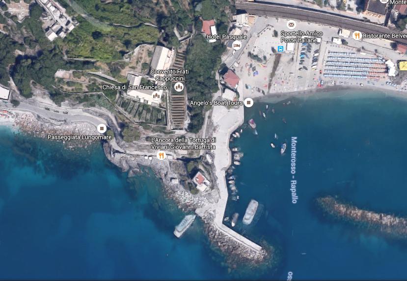 Monterosso map, Cinque Terre
